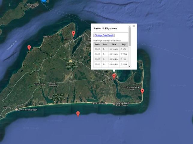 Massachusetts Tide Chart On The App Store