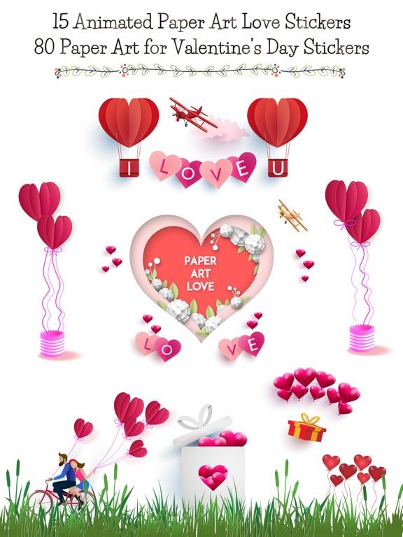 Animated Paper Art Love Pack screenshot 6