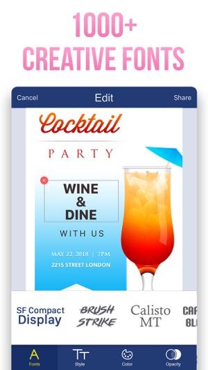 Invitation maker invite maker on the app store invitation maker invite maker on the app store stopboris Images