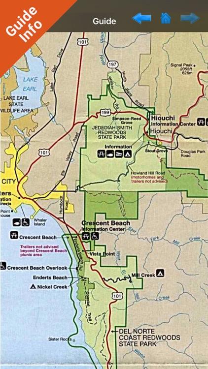 Redwood National Park gps and outdoor map screenshot-3