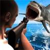 愤怒的鲨鱼狩猎和射击