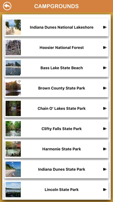 Screenshot for Indiana National Parks in Kuwait App Store