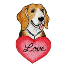 Darling Beagle Sticker