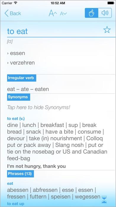 Screenshot for Wörterbuch Deutsch-Englisch in Germany App Store