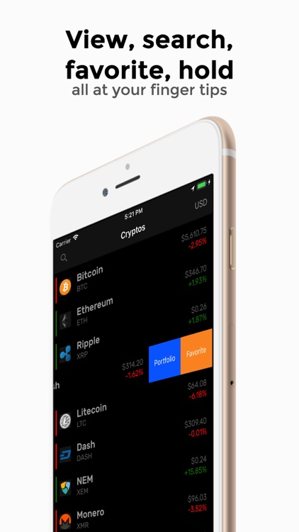 CryptoMarket: Bitcoin Ticker screenshot-0