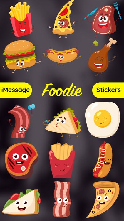 Foodie - Funny Food Emoji Text Chat Sticker Pack