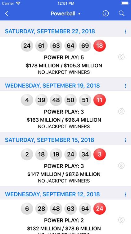 Lotto Results + Lottery in US screenshot-4