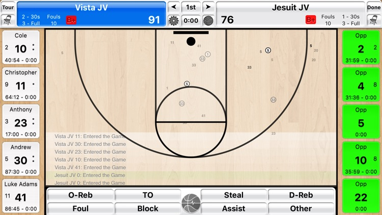 Basketball Stat Tracker Live screenshot-1