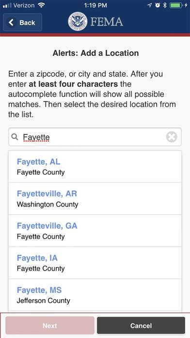 Fema review screenshots