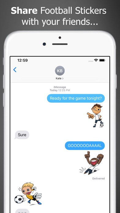 Just Football Stickers screenshot one