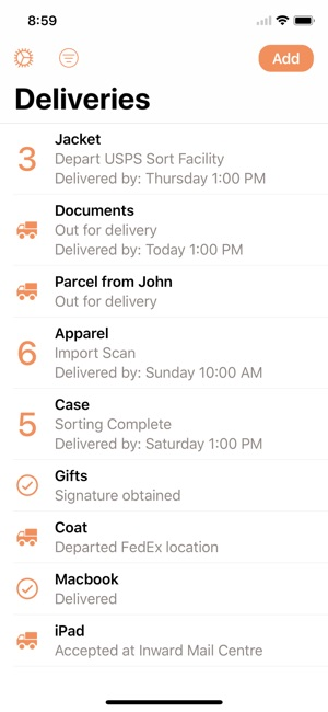 Parcel Delivery Tracking On The App Store