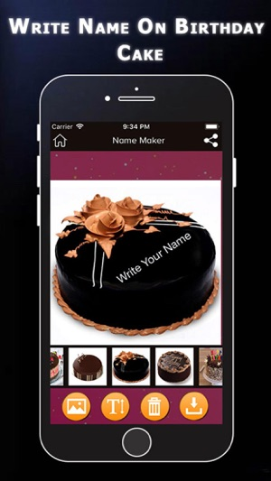Write Name On Birthday Cake Im App Store