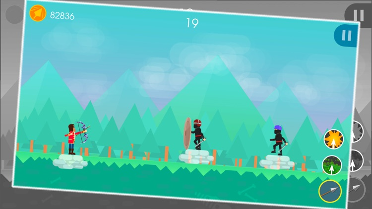Funny Archers - 2 Player Archery Games screenshot-3