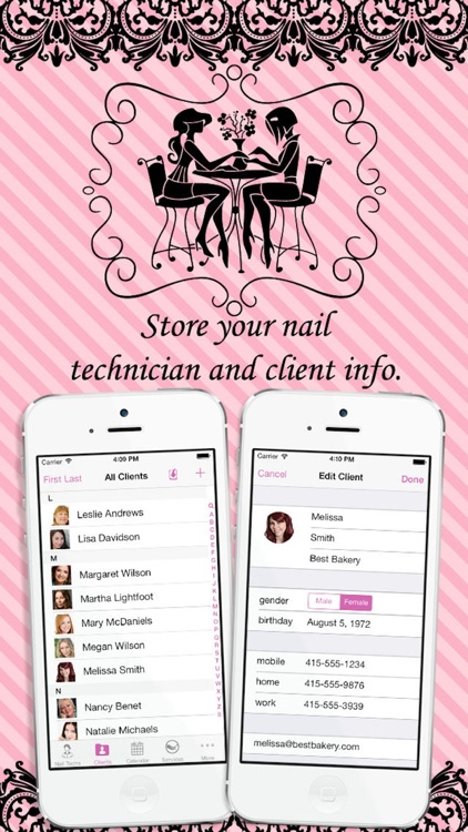 eNails - Nail salon appointment schedule calender