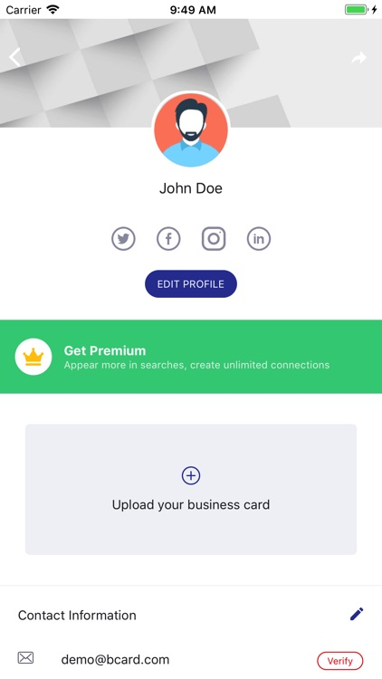 BizConnect BusinessCard Reader
