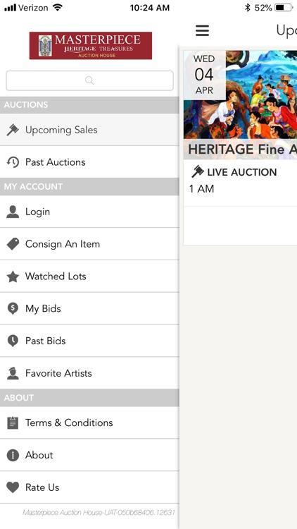 MASTERPIECE Auction screenshot-4