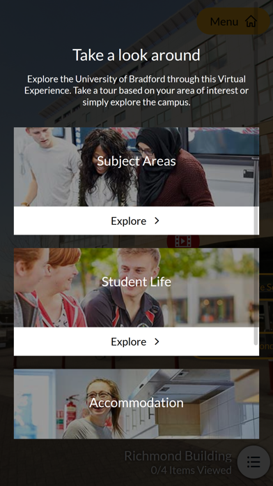 Uni of Bradford Virtual Tour screenshot two