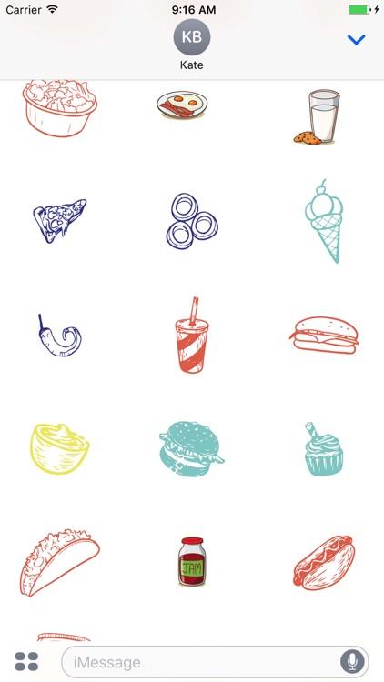Yummy Food Sticker Pack screenshot-3