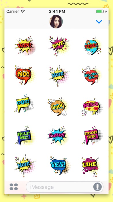 Screenshot of Comic Speech Animated Stickers App