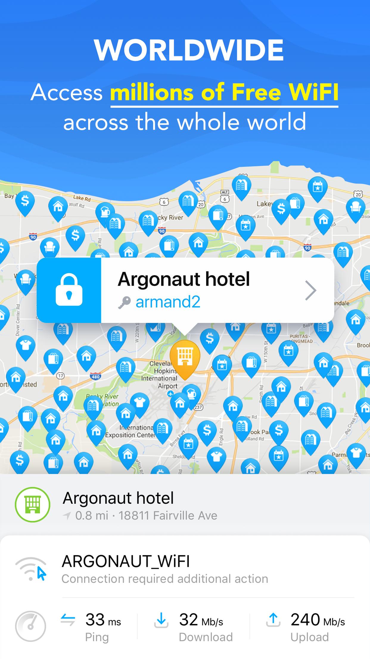 WiFi Map - Get Free Internet Screenshot