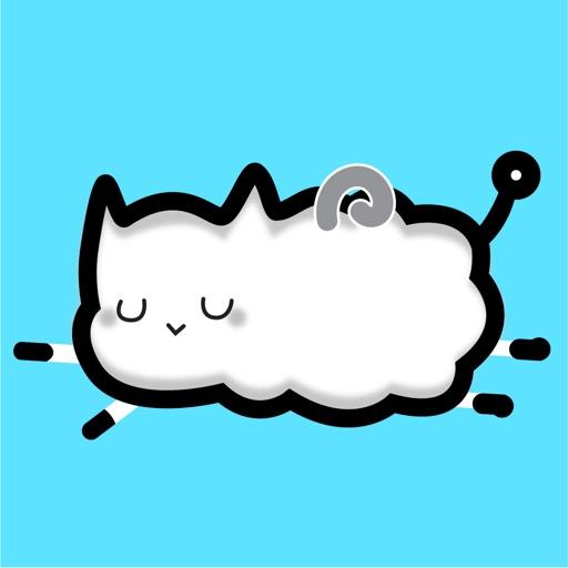 Astronaut Cat Animated Sticker