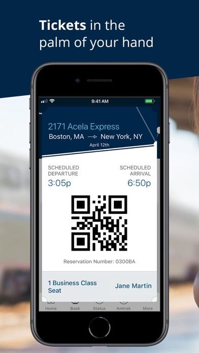 Amtrak review screenshots