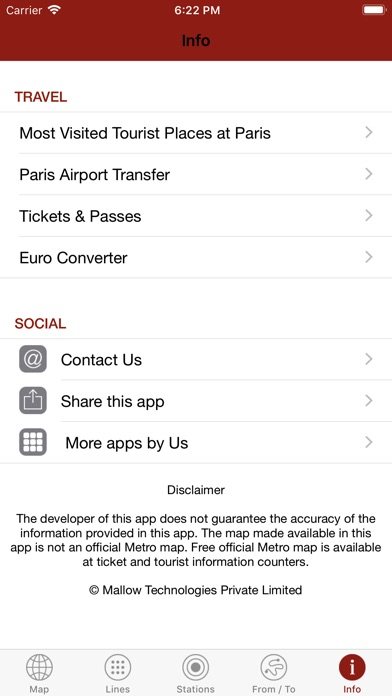 Screenshot for Paris By Metro in Italy App Store