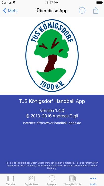 TuS Königsdorf Handball screenshot-3