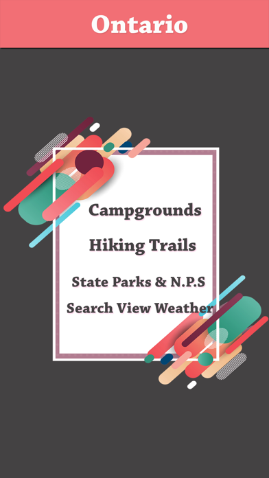 Ontario Camping & Trails,Parks screenshot one