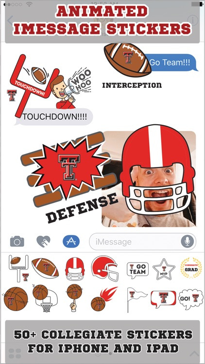 Texas Tech Red Raiders Animated+Stickers-iMessage
