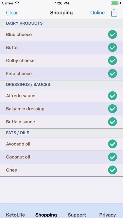 KetoLife Allowable Food List screenshot-4