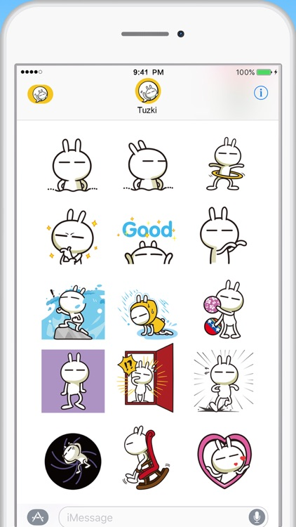 Tuzki Animated Sticker Pack