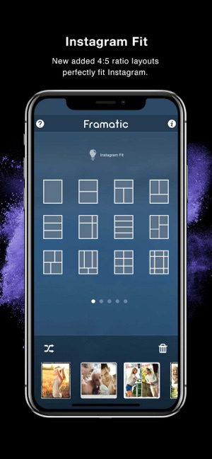 how to select all photos on iphone framatic collage editor on the app 6318
