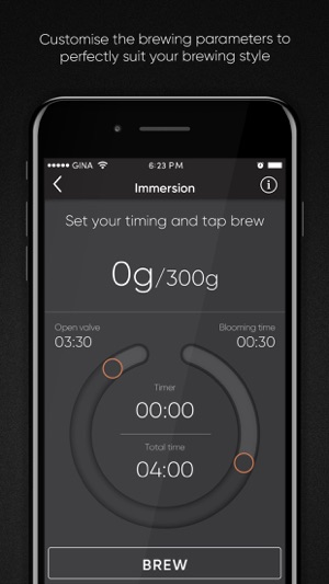 25a68d07641c95 GINA – Smart coffee brewer on the App Store