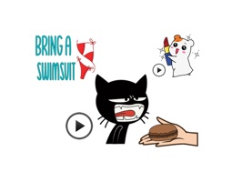 Now, a new stickers - Animated black cat is available
