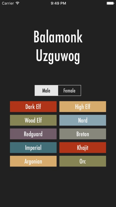 Elder Scrolls Name Generator screenshot two