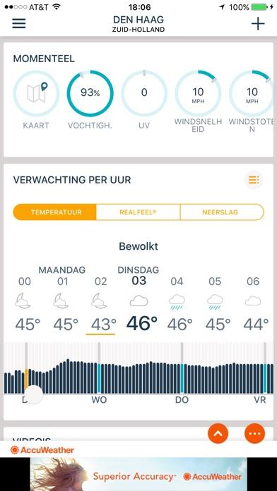 Screenshot for AccuWeather weerbericht in Netherlands App Store