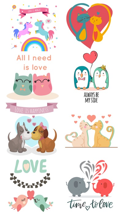 Love Quotes With Lovely Cute Animal Couple Pack App Price Drops