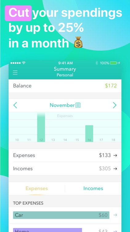 Moneon – Money Expense Tracker