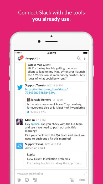 Screenshot 4 for Slack's iPhone app'