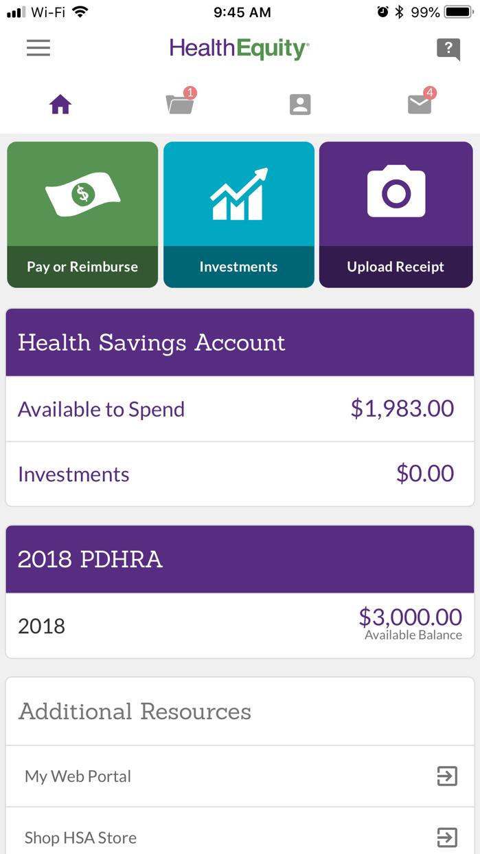 HealthEquity Mobile Screenshot