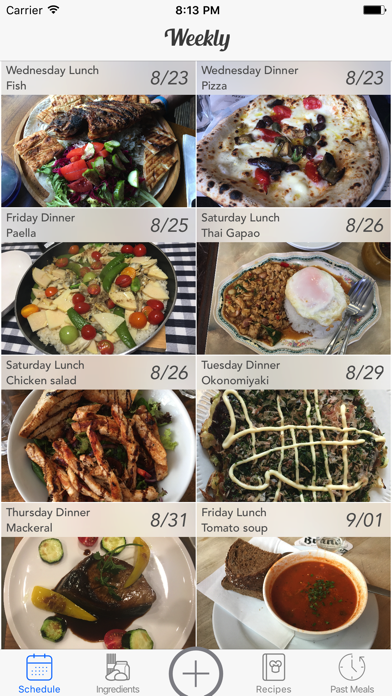Weekly Meal Planner screenshot