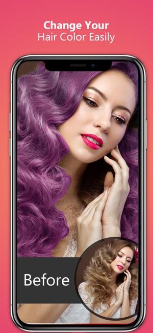 hair color eye color changer on the app store. Black Bedroom Furniture Sets. Home Design Ideas