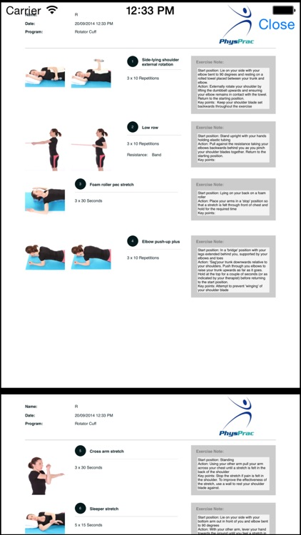 PhysPrac:Exercise Prescription screenshot-4