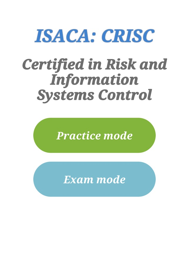 CRISC Certification Exam on the App Store