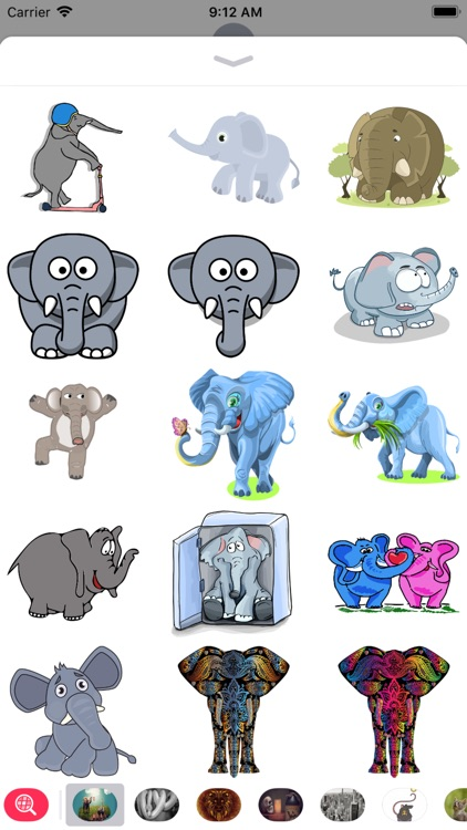 Elephant Stickers  - Sid Y