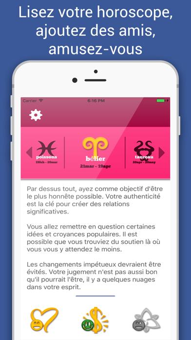 Screenshot Horoscope du jour:amour&argent