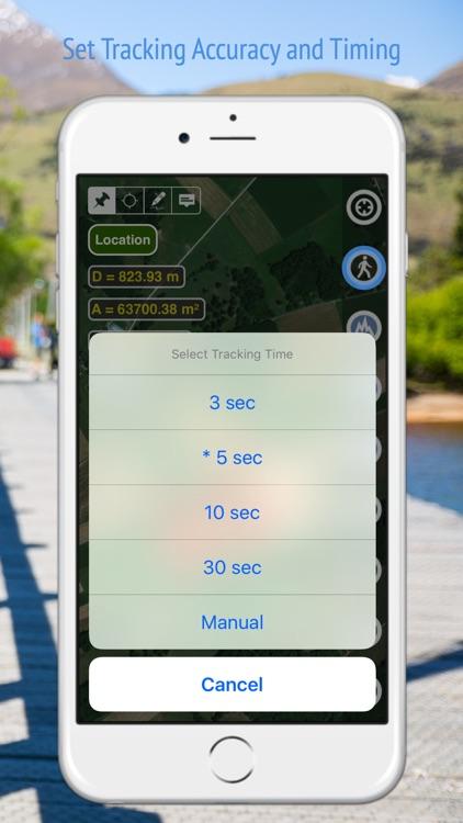 Planimeter - GPS area measure screenshot-3