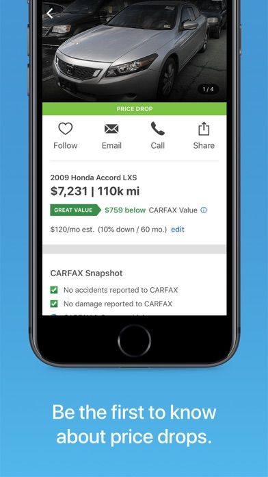 Carfax Find Used Cars For Sale review screenshots