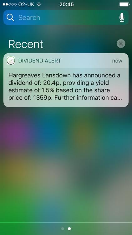 Dividend Alert